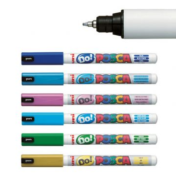 POSCA MARKER PENS PC-1MD ULTRA-FINE PIN SHAPED TIP 0.7mm by Uni-Ball